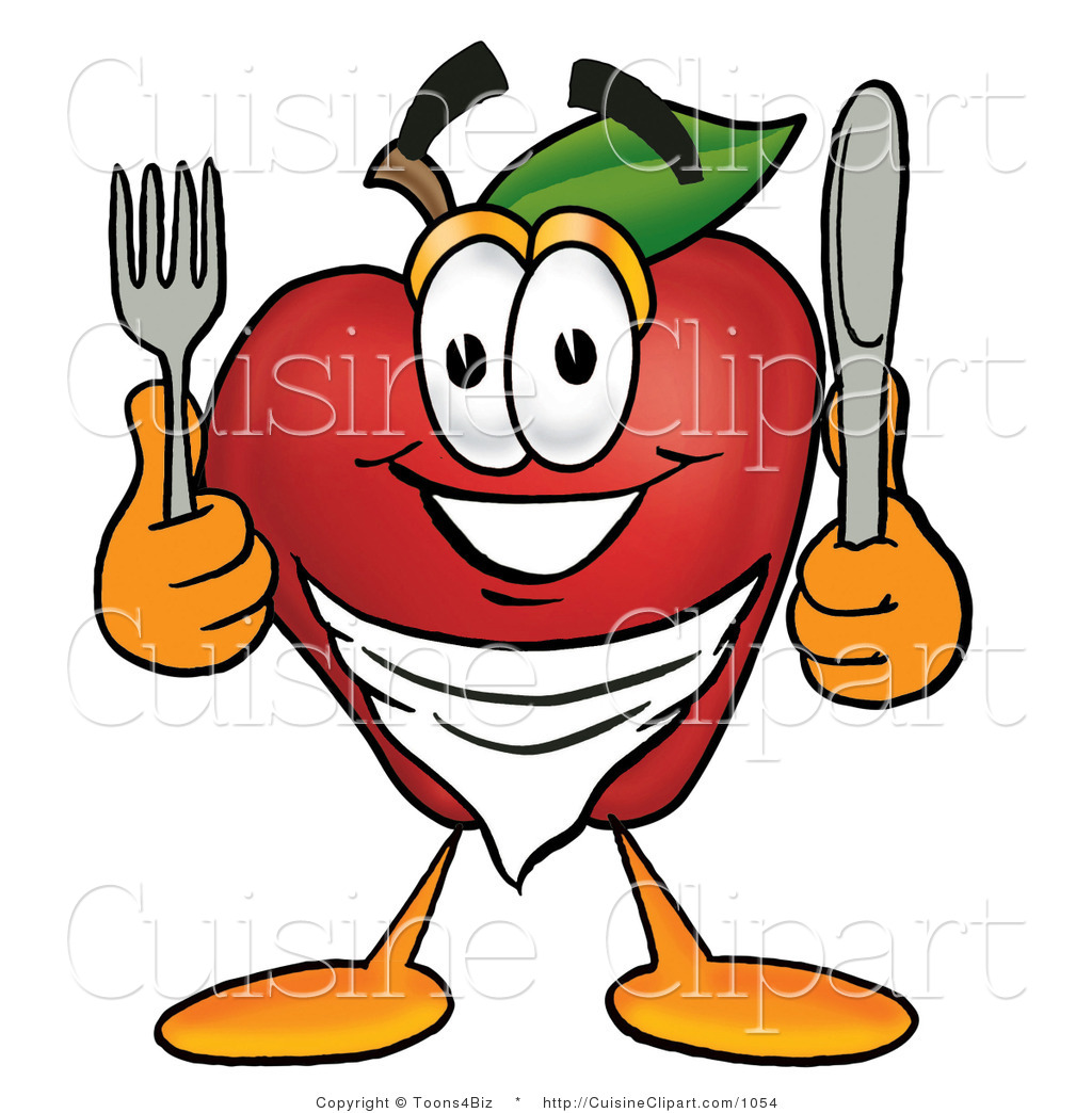1024x1044 Cuisine Clipart Of A Smiling Hungry Red Apple Character Mascot