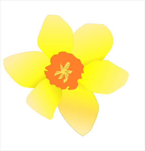 570x597 Daffodil (Stripped) Clip Art