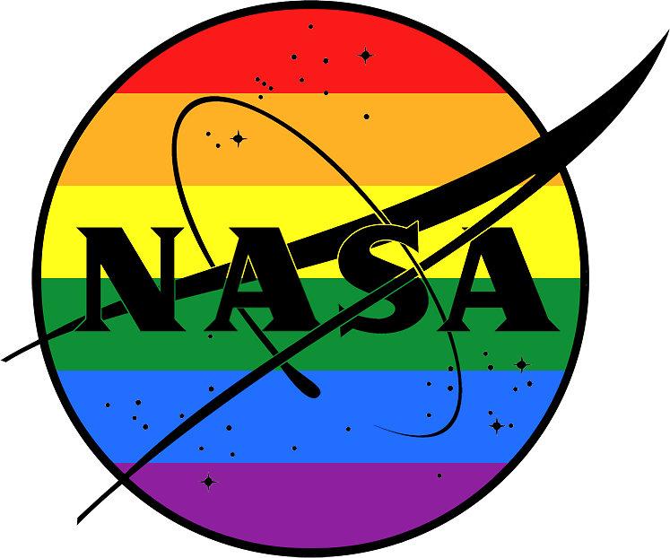 747x622 Gay Pride Nasa Logo Stickers By Gloomybabe Redbubble