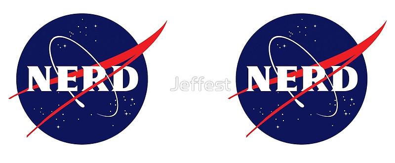 800x331 Nasa Nerd Logo Parody Mugs By Jeffest Redbubble