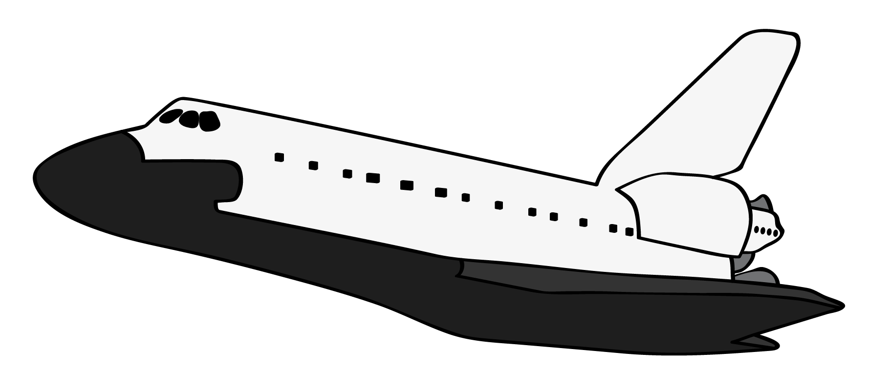 1817x803 Black And White Space Shuttle Clipart