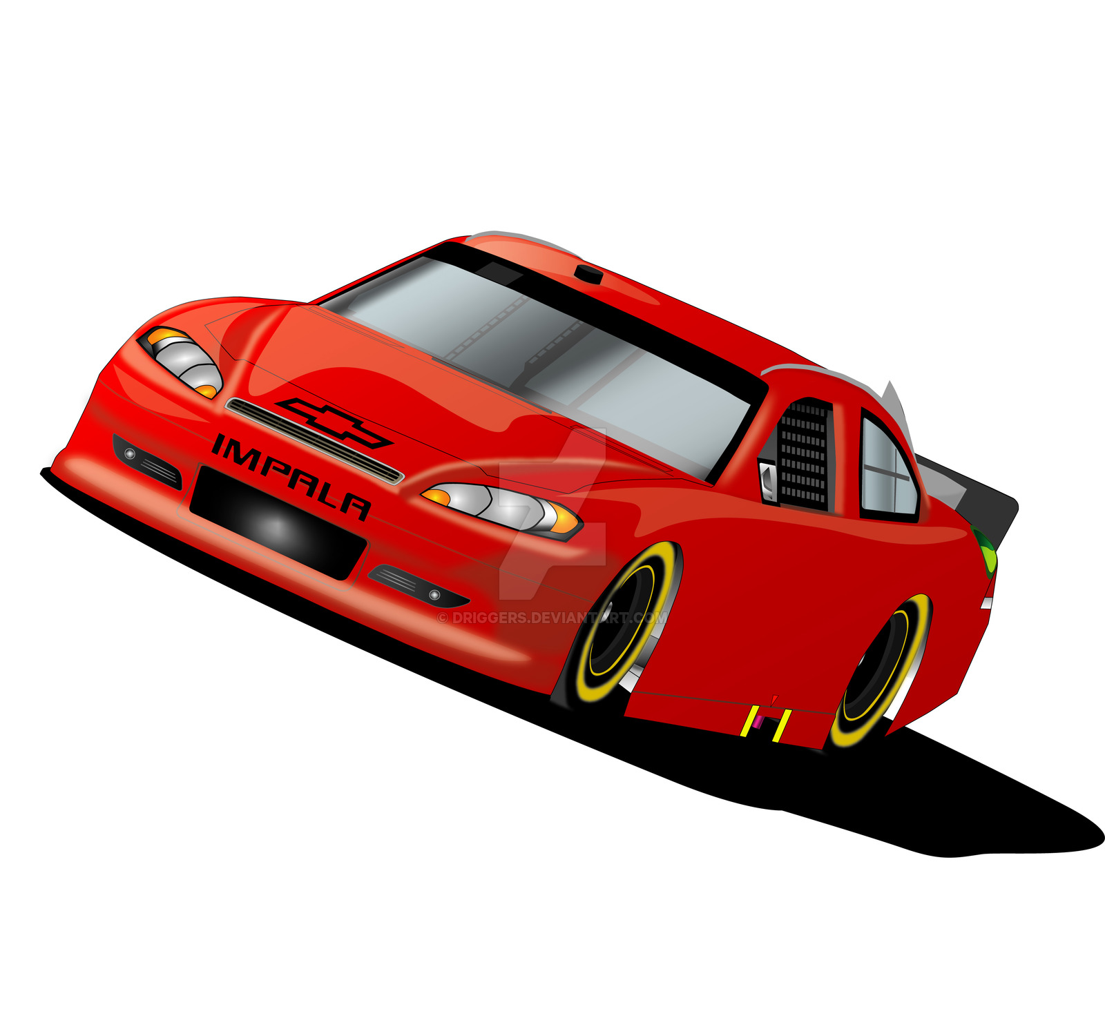 1600x1491 Nascar Sprint Cup Impala By Driggers On Clipart