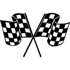 236x236 Chequered Racing Flags Vector Silhouette Silhouette Clip Art