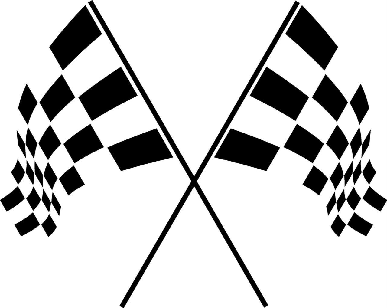 1280x1018 racing flags clipart