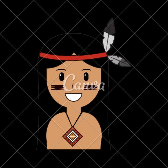 550x550 Cartoon Native American Indian