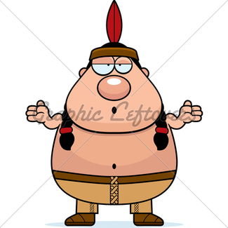 325x325 Cartoon Native American Spear Gl Stock Images