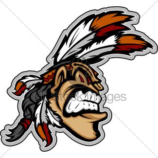 325x325 Indian Chief Mascot Head Vector Cartoon Gl Stock Images