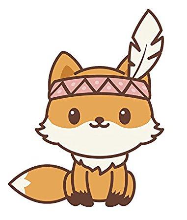 381x450 Adorable Kawaii Fox Emoji Cartoon