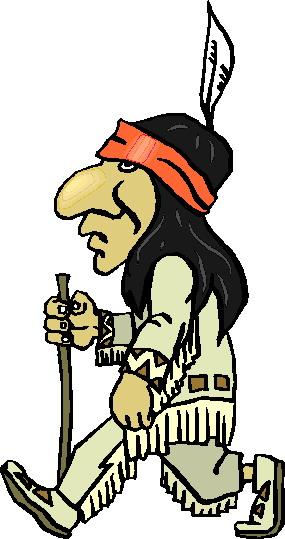 285x539 Native American Clipart Walking