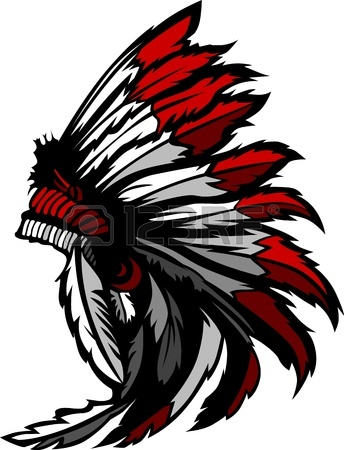 344x450 Cartoon Graphic Of A Native American Indian Chief Mascot Holding