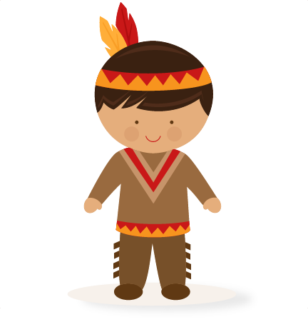 432x451 Large Boy Native American Clip Art