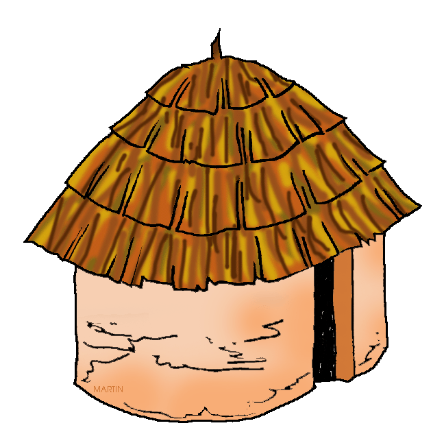 648x646 Native American Homes Clipart