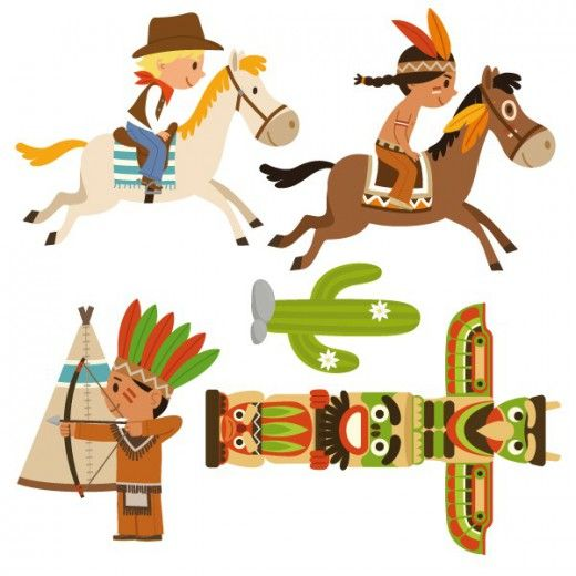 520x520 Native American Clipart Cowboys And Indians