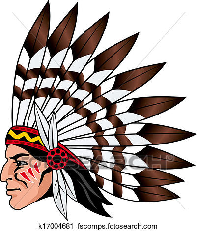 401x470 Clipart Of Native American People K17004681