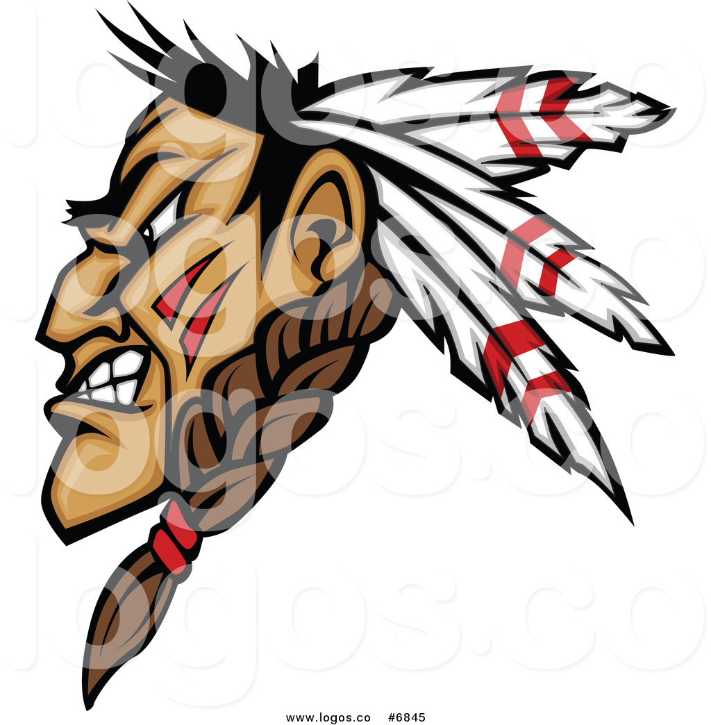 1024x1044 Royalty Free Clip Art Vector Logo Of A Profiled Native American