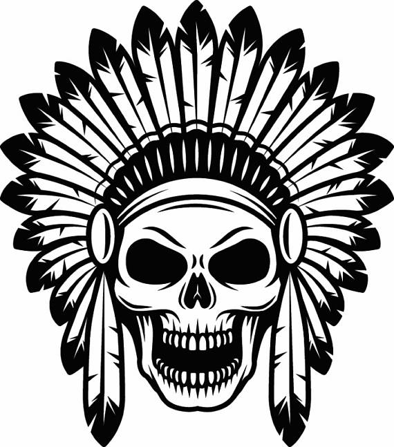 570x647 Indian Skull 1 Native American Warrior Headdress Feather