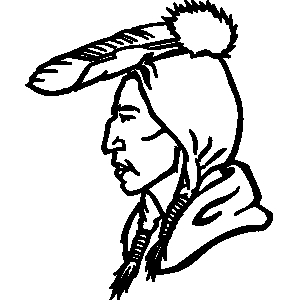 300x300 Native American Clipart Black And White
