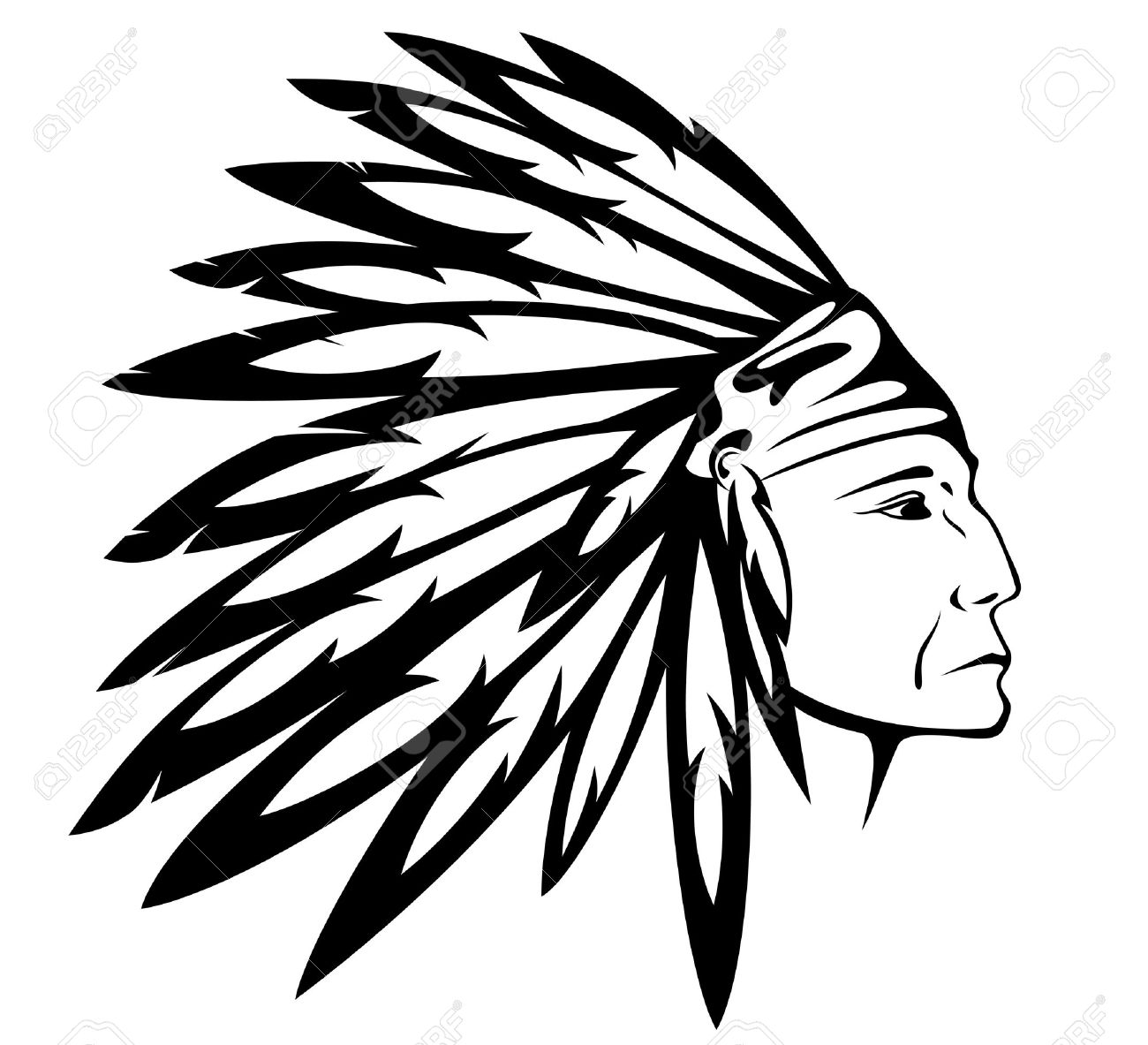 1300x1183 Native American Clipart Head Dress