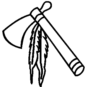 300x300 Native American Clipart Weapon
