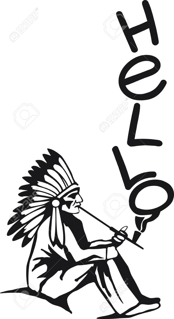 709x1300 Pipe Clipart Native American