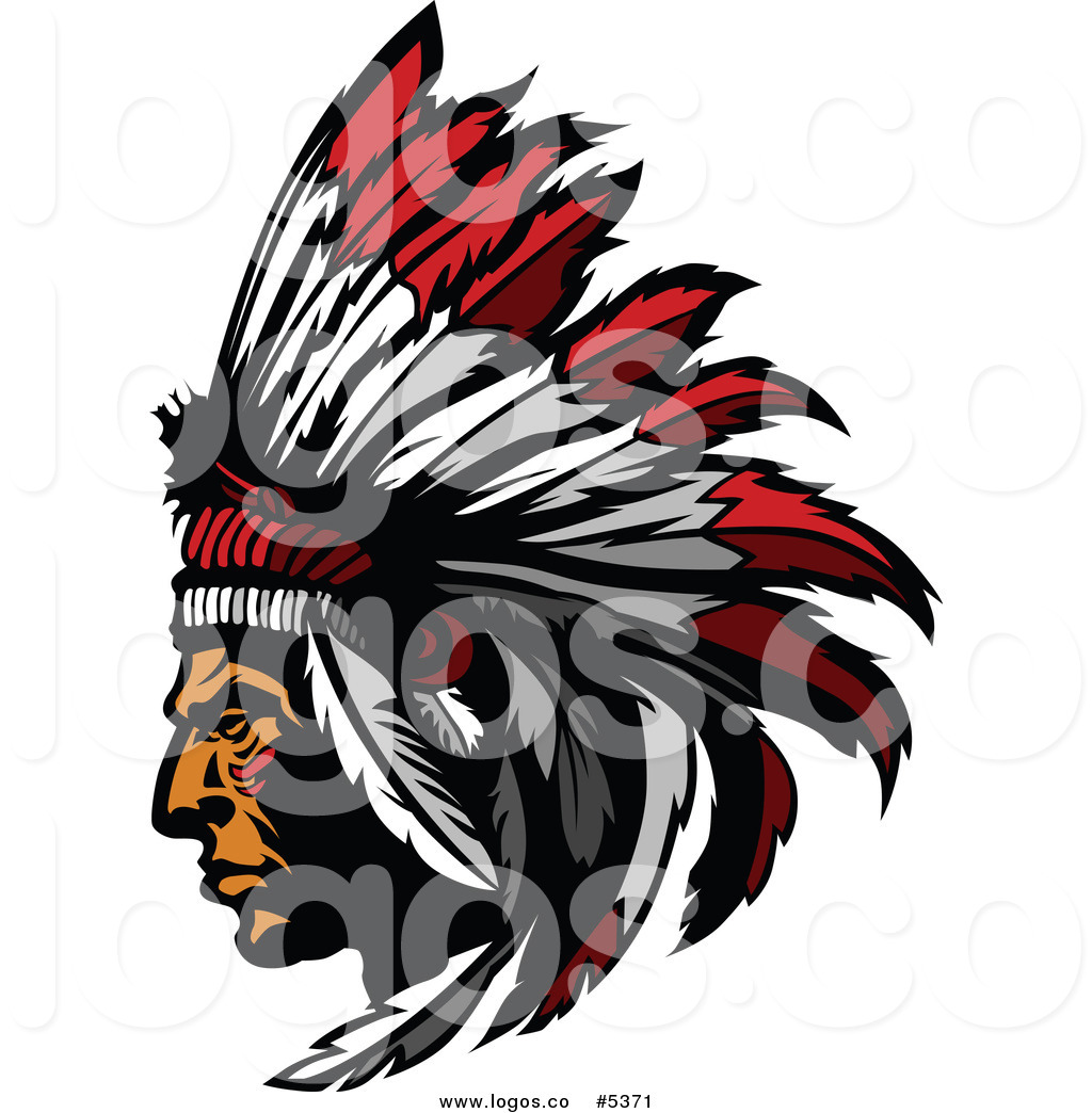 1024x1044 Royalty Free Vector Of Logo Of Nativemerican Chief Wearing