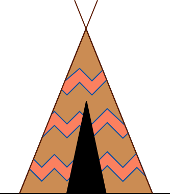 333x381 Native American Clipart Teepee Tent