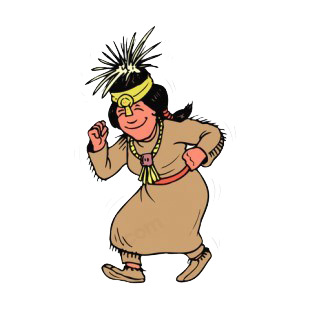 310x310 American Clipart Dancer Native