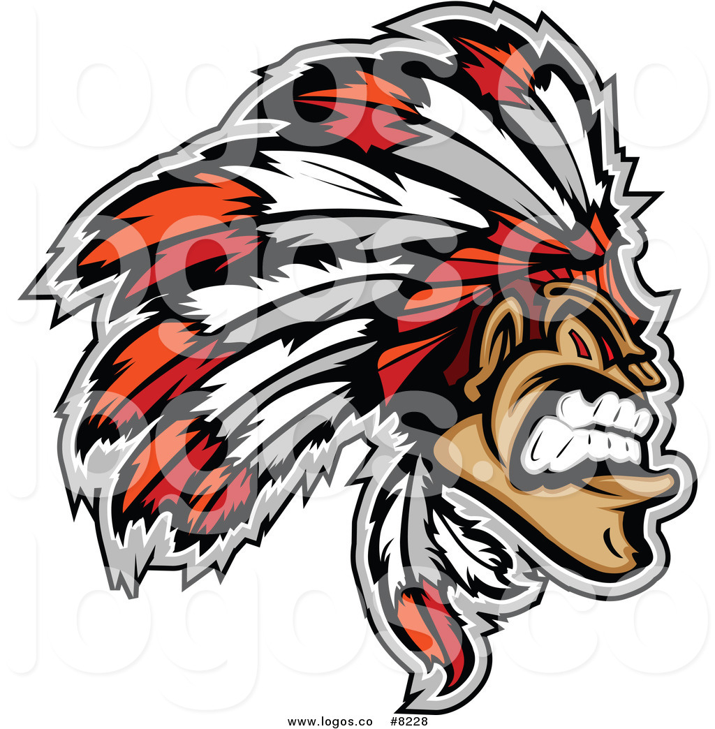 1024x1044 Royalty Free Clip Art Vector Logo Of A Tough Native American
