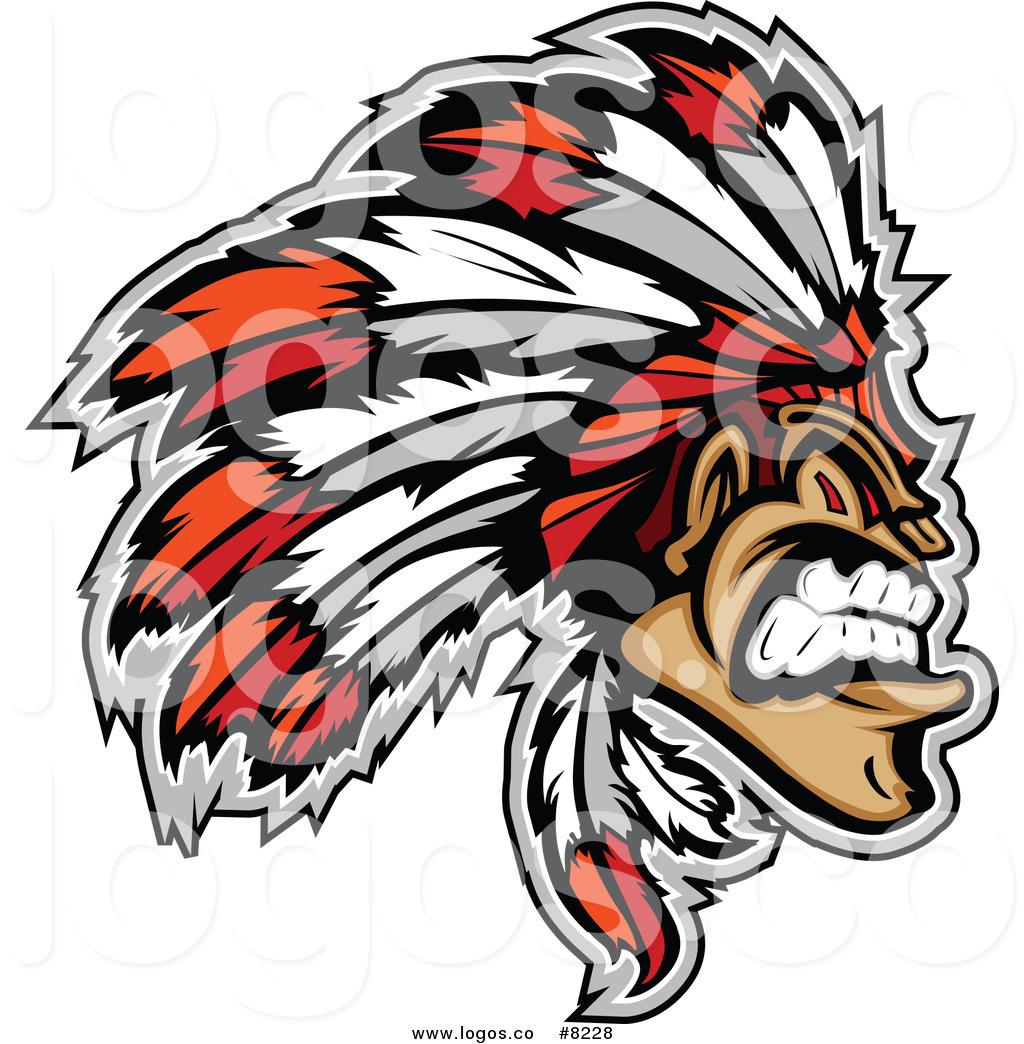 1024x1044 Royalty Free Clip Art Vector Logo Of A Tough Native American