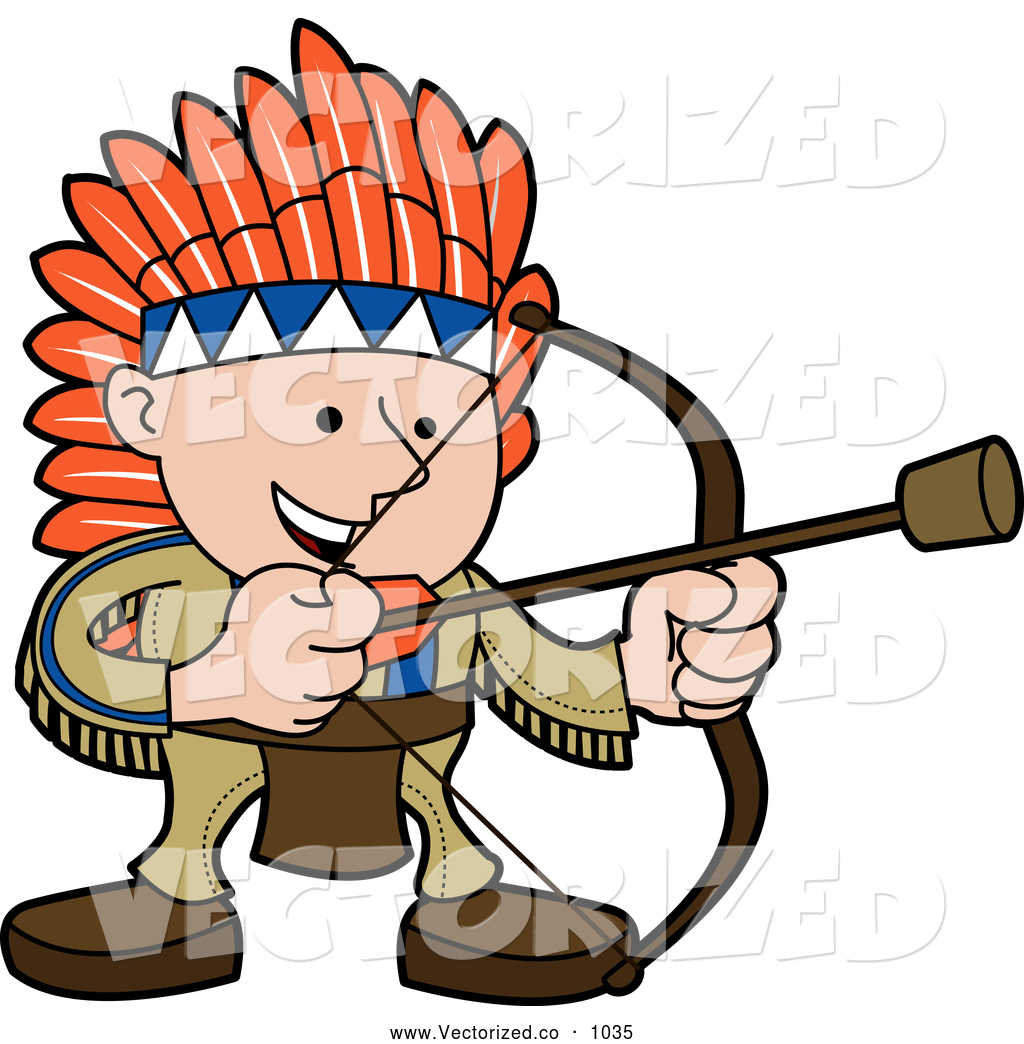 1024x1044 Royalty Free Clipart Of A Smiling White Boy In A Native American