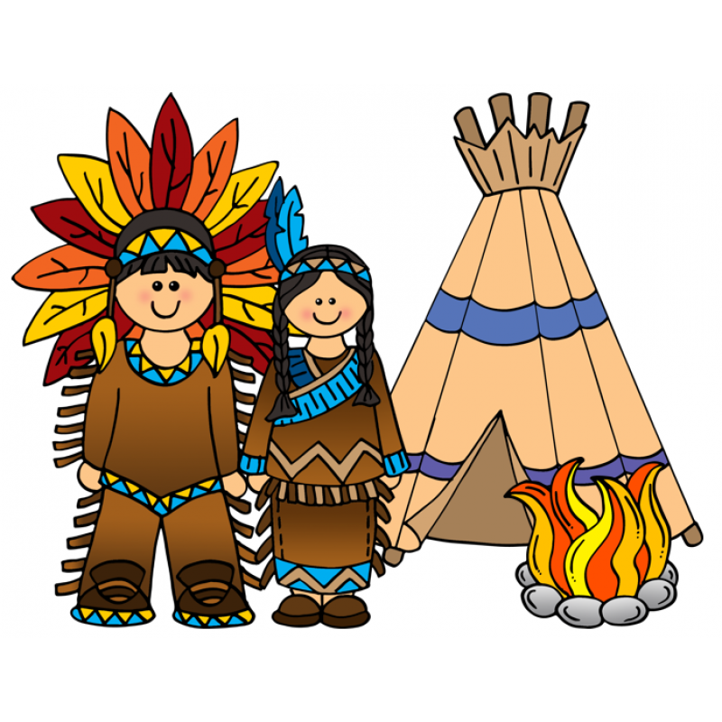 800x800 Native American Clipart For Kids Black And White