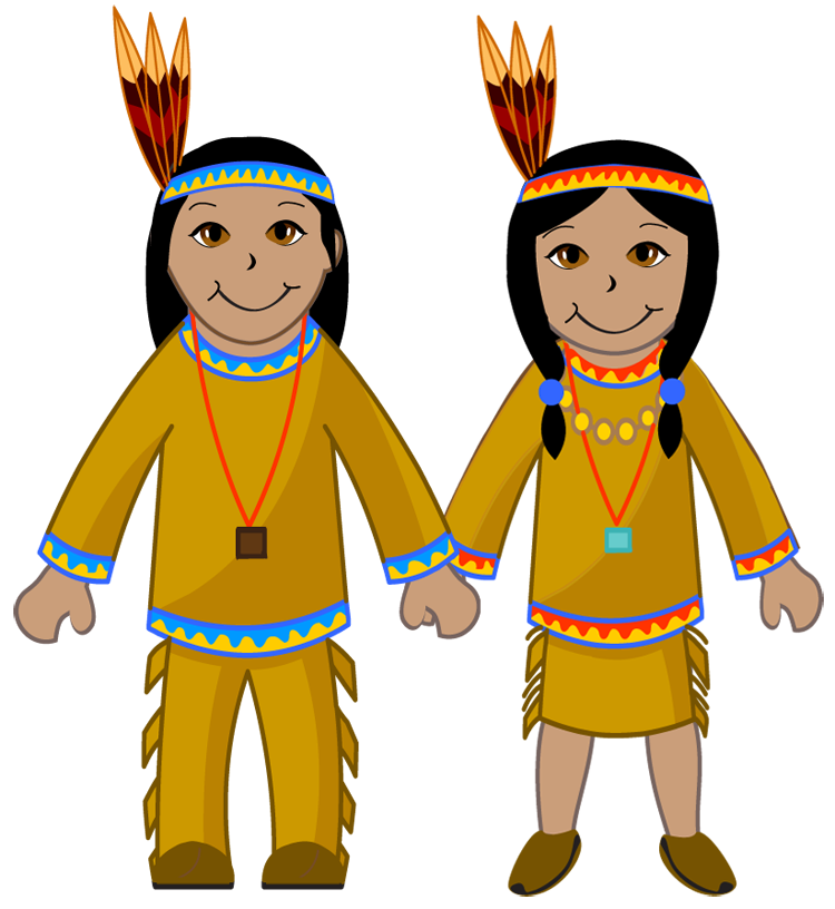 750x816 Native American Clipart Indian Kid