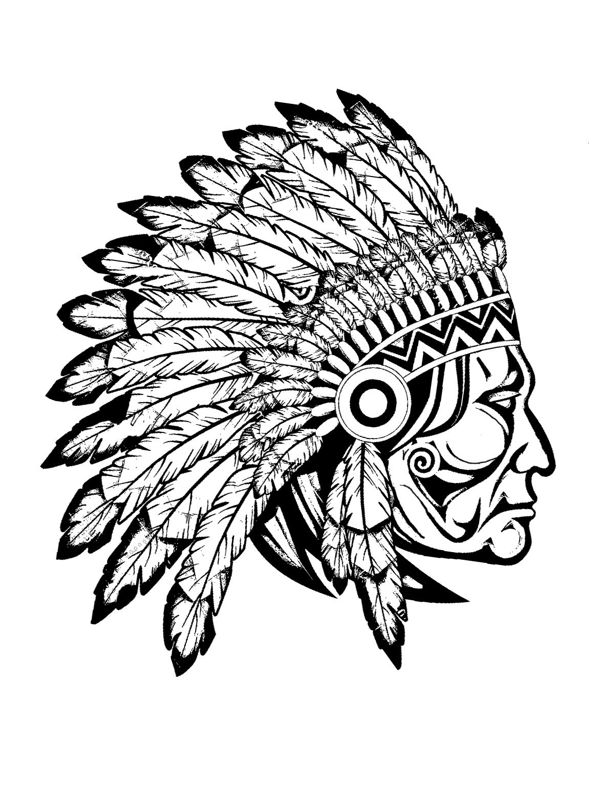 1174x1542 Native American Coloring Pages Headdress