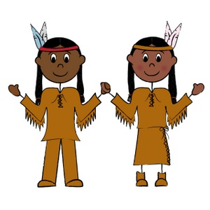 300x300 Thanksgiving Native American Clipart