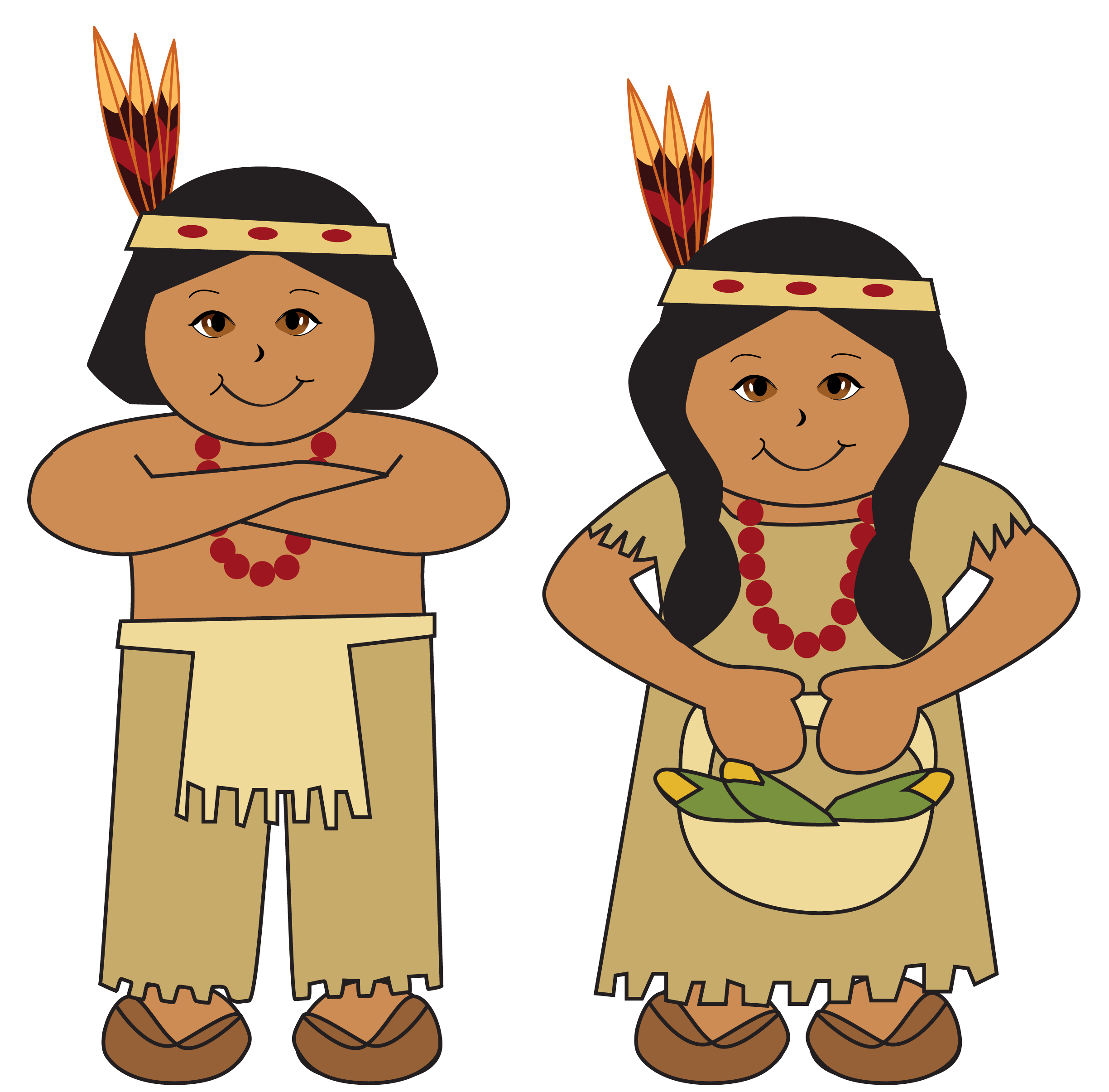 2449x2410 American Clipart Indian Native