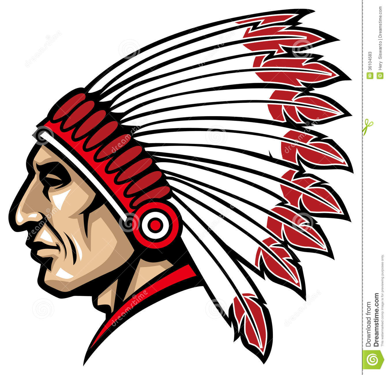 1345x1300 Head clipart american indian