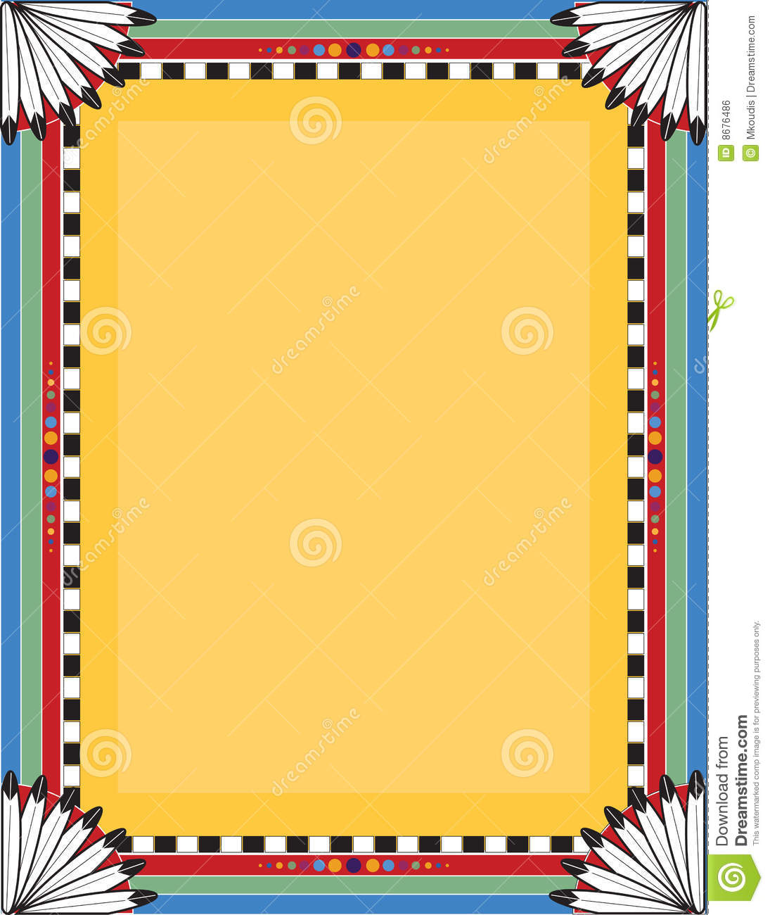 1095x1300 Native American Borders Clipart