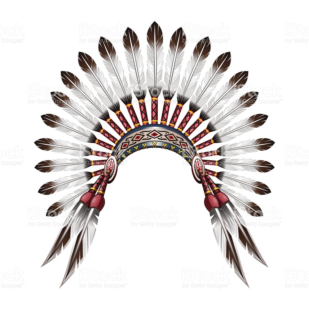 1024x1024 Native American Clipart Feather Hat