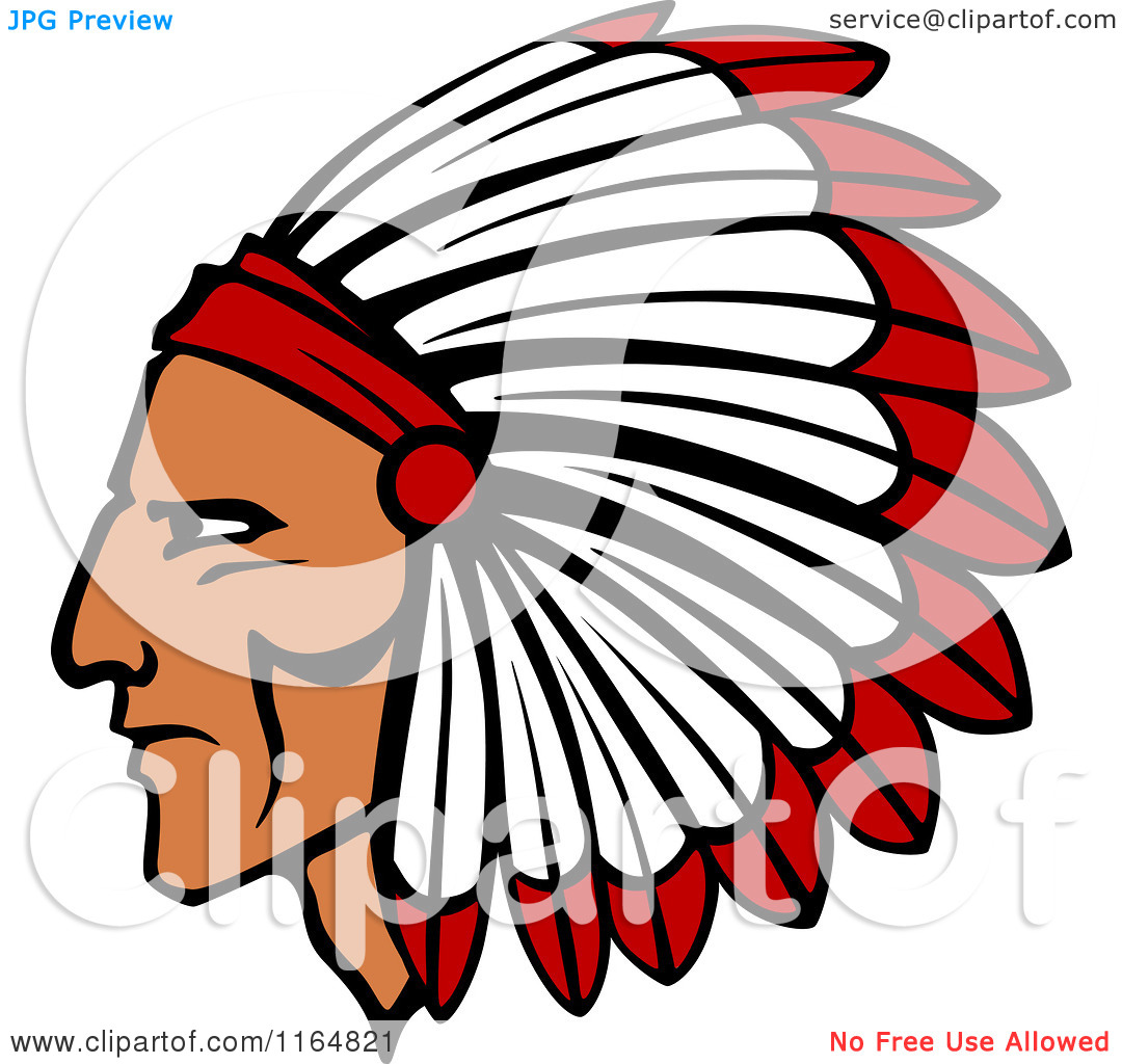 1080x1024 Native American clipart headpiece