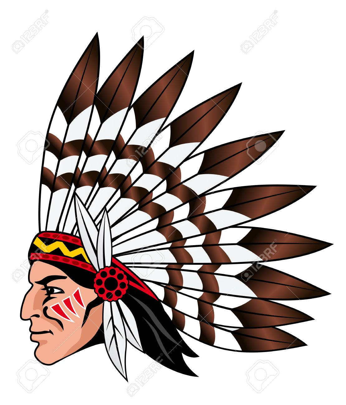 1110x1300 Native american indian chief head clip art image