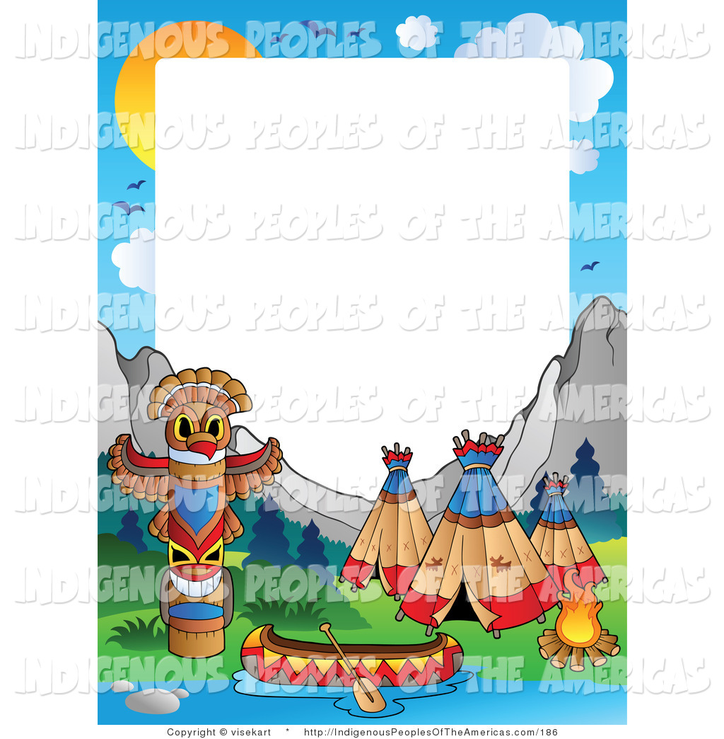 1024x1044 Native american clip art Native American Indian Camp Frame