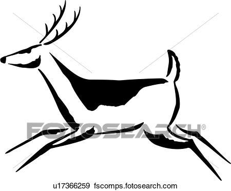450x372 Clip Art Of , Animal, Deer, Native, Southwest, U17366259