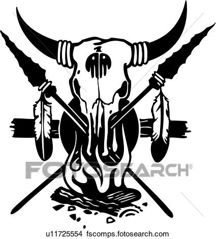 425x470 Clip Art Of , Arrow, Feather, Graphic, Native American