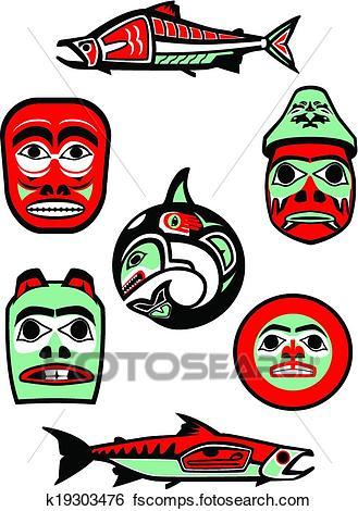 329x470 Clip Art Of Pacific Northwest Native Designs K19303476