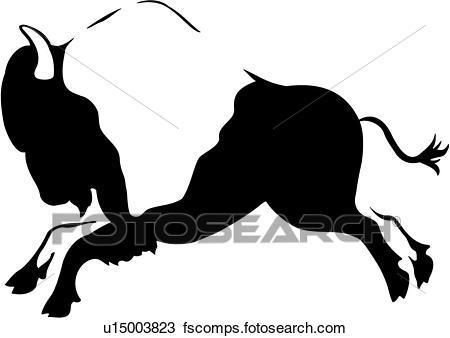 450x338 Clipart Of , Animal, Buffalo, Native, Southwest, U15003823