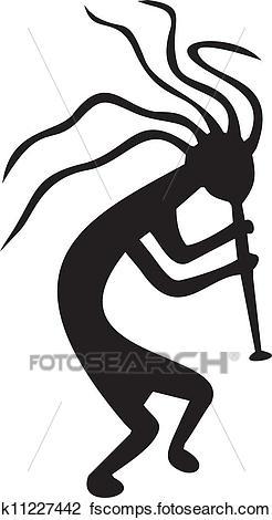 246x470 Clipart Of Kokopelli
