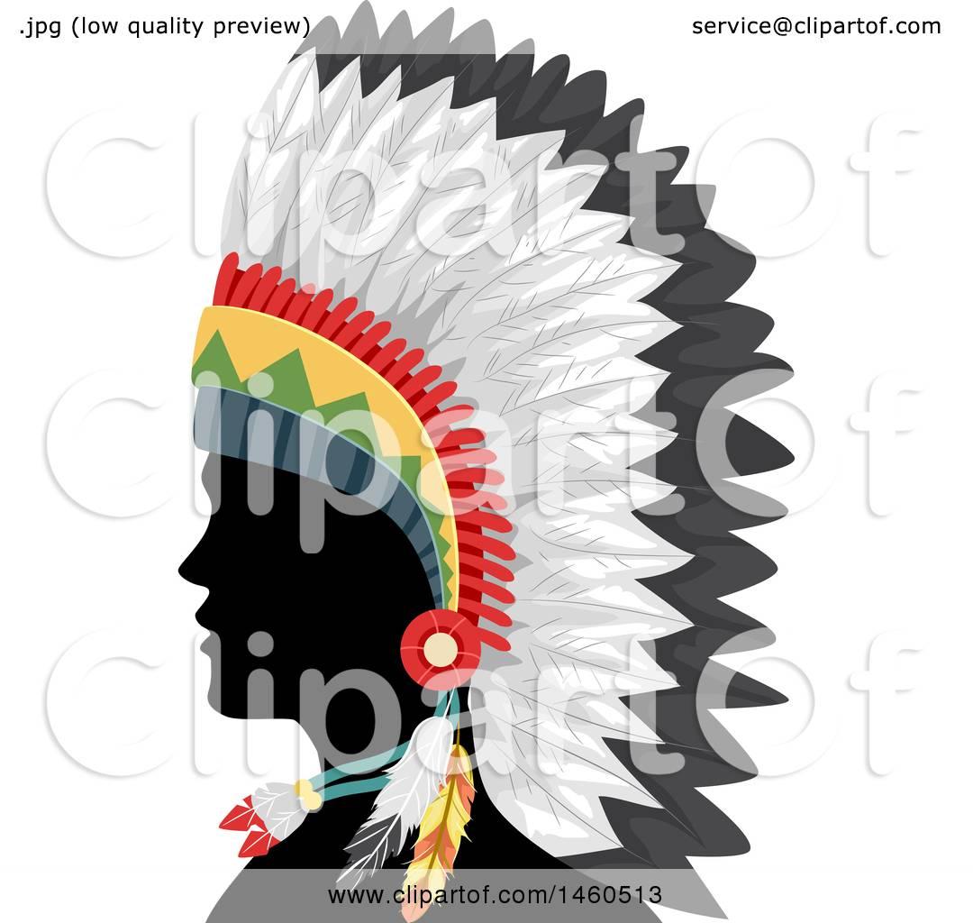 1080x1024 Native American Clipart Headpiece