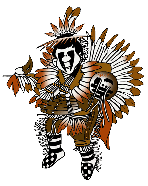515x648 Native Americans Clip Art By Phillip Martin, Far North Shaman