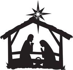 236x228 Nativity Scene Silhouette Clip Art
