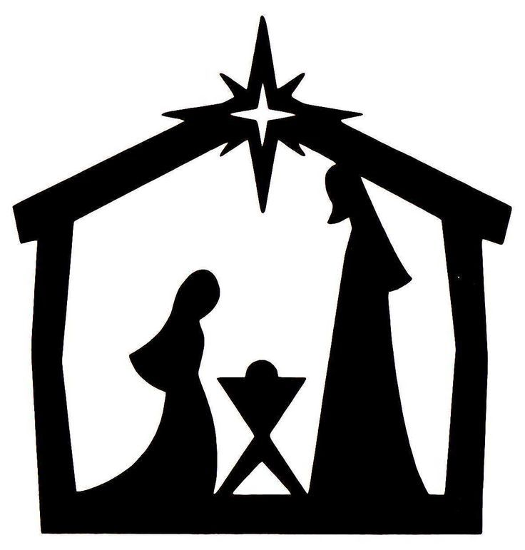 736x771 Nativity Silhouette Patterns